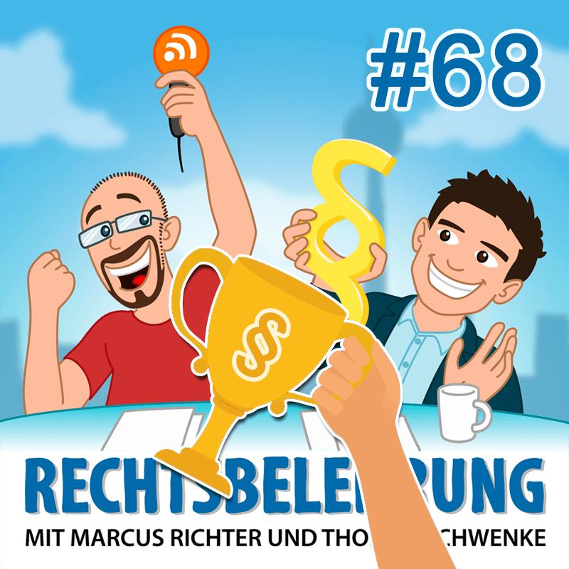Podcast: Gewinnspiele & Recht - Rechtsbelehrung #68