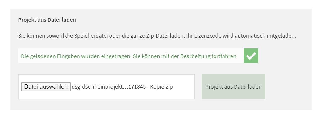 https://datenschutz-generator.de - Speichervorgang - Upload