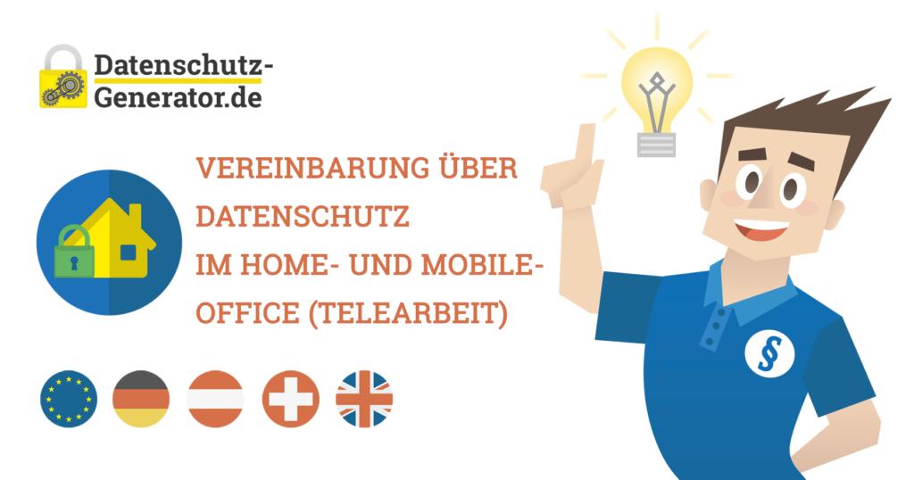 Vereinbarung über Datenschutz im Home- und Mobile-Office (Telearbeit)