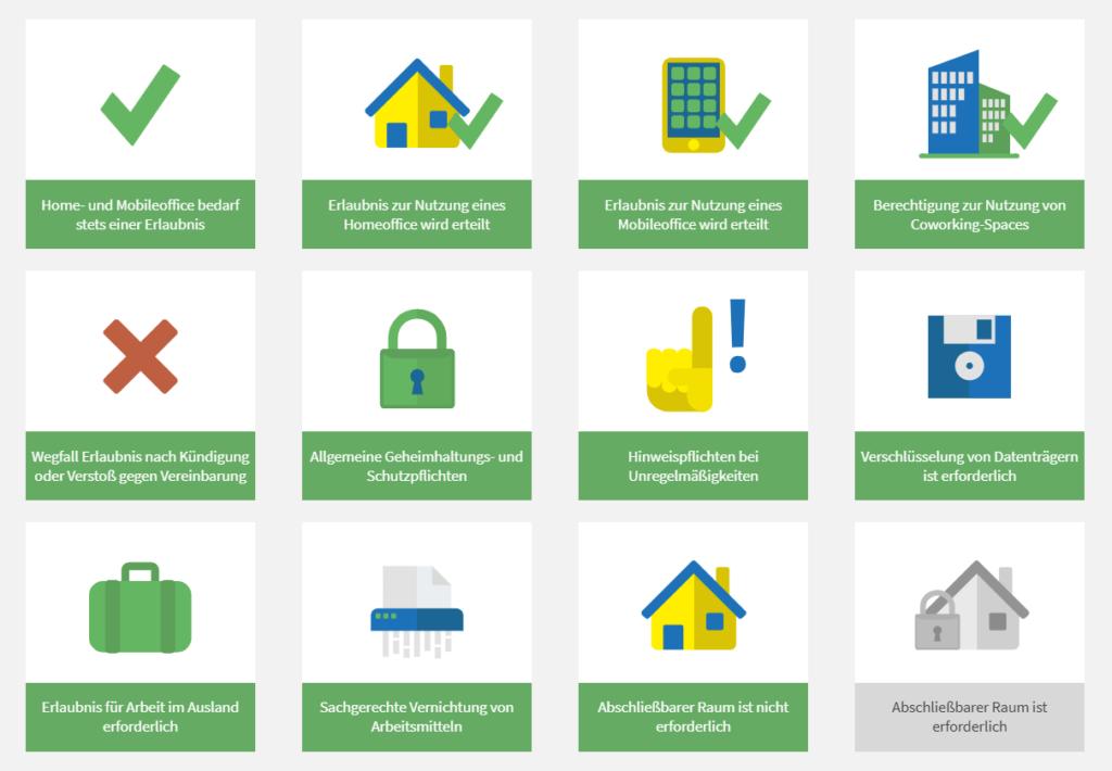 """Sie können eine entsprechende """"Vereinbarung über Datenschutz im Home- und Mobile-Office (Telearbeit)"""" als auch eine """"Vereinbarung über betriebliche Nutzung von Privatgeräten der Mitarbeiter*innen (BYOD)"""" bei uns erstellen."""