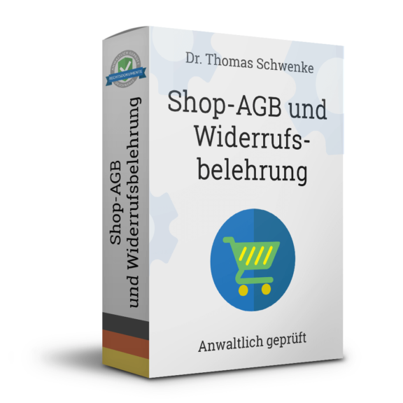 Onlineshop-AGB mit Widerrufsbelehrung für Verbraucher (Deutsch)