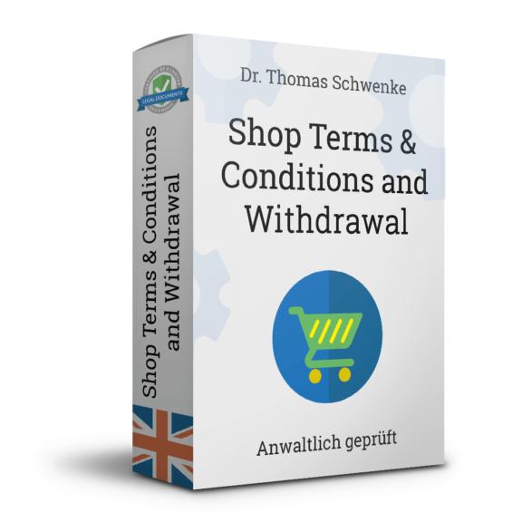 Onlineshop-AGB mit Widerrufsbelehrung für Verbraucher (Englisch)