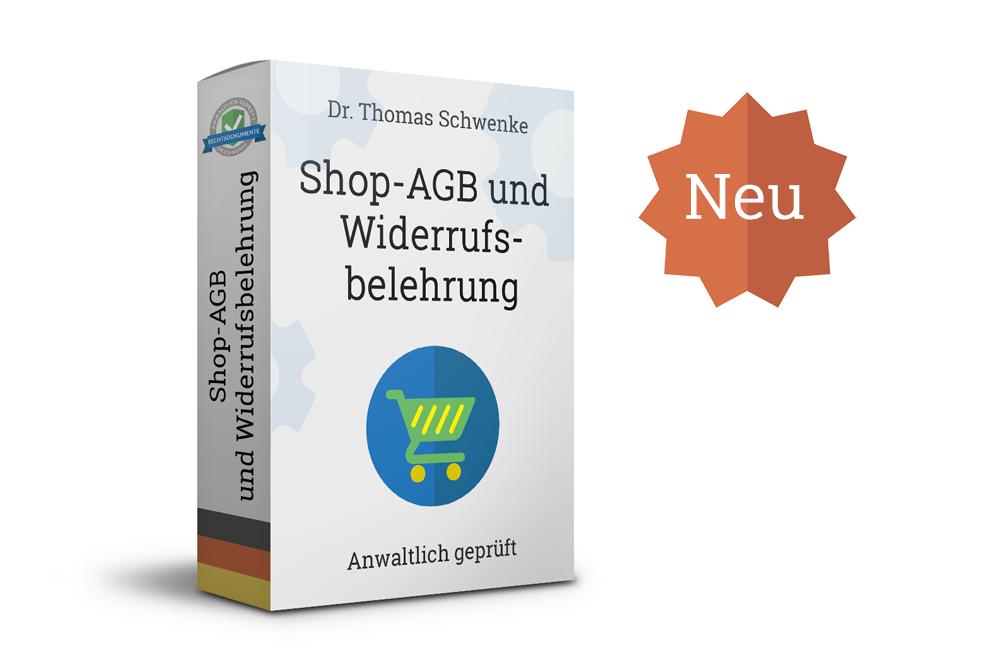 Neu (mit Gewinnspiel): Generatoren für Online-Shop AGB und Widerrufsbelehrung