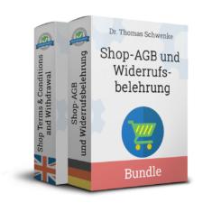 Onlineshop-AGB mit Widerrufsbelehrung (Deutsch + Englisch)
