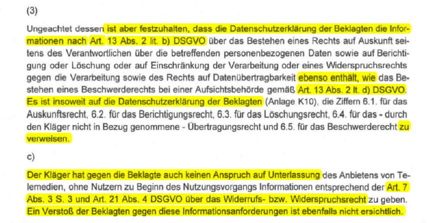 Wir freuen uns, dass auch das LG Rostock mit der von unserem Generator erstellte Datenschutzerklärung zufrieden war