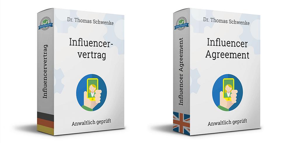 Influencervertrag – Vertrag über die Erstellung und Publikation von Inhalten sowie Promotionsleistungen