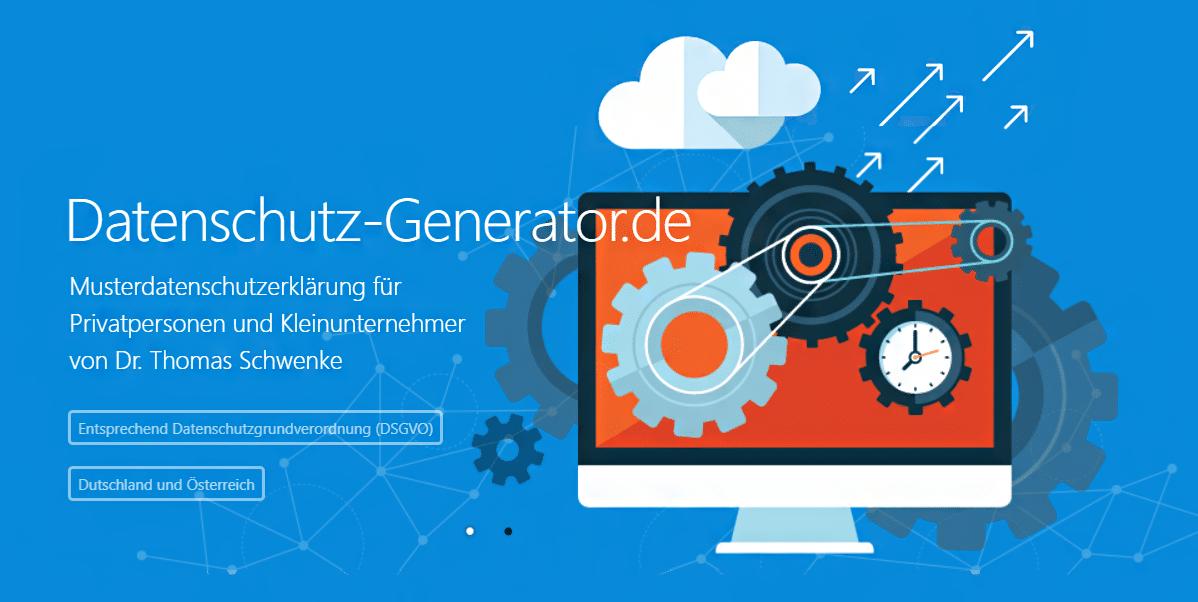 Dsgvo Datenschutzerklärung Generator Für Webseiten Shops Blogs Und